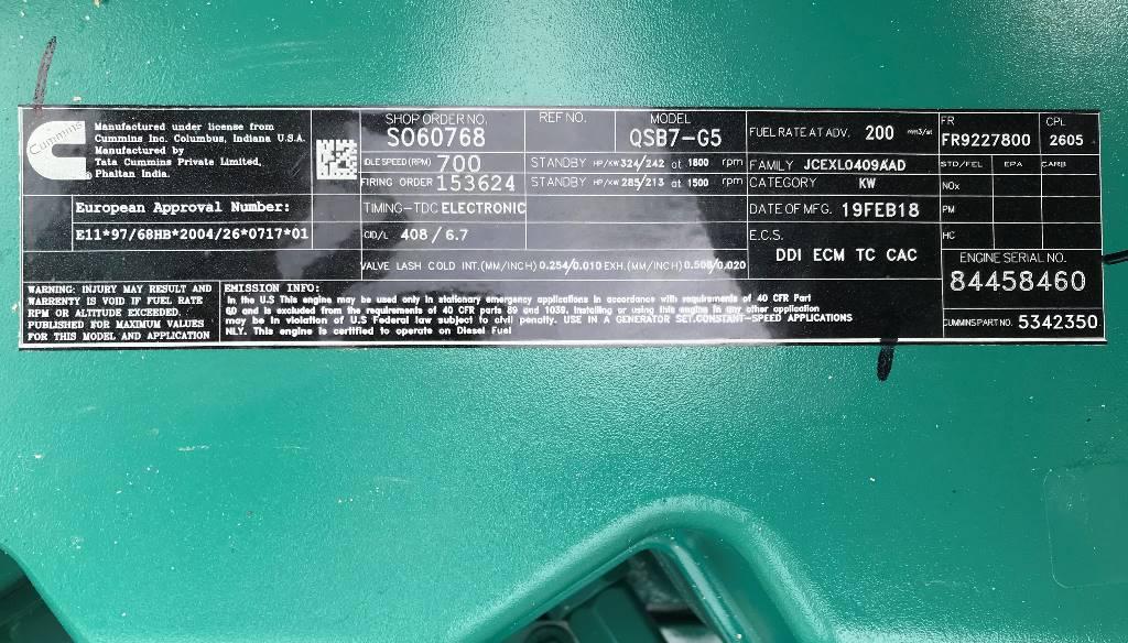Cummins C220 D5 - 220 kVA Open Generator - DPX-18512-O, Diesel generatoren, Bouw