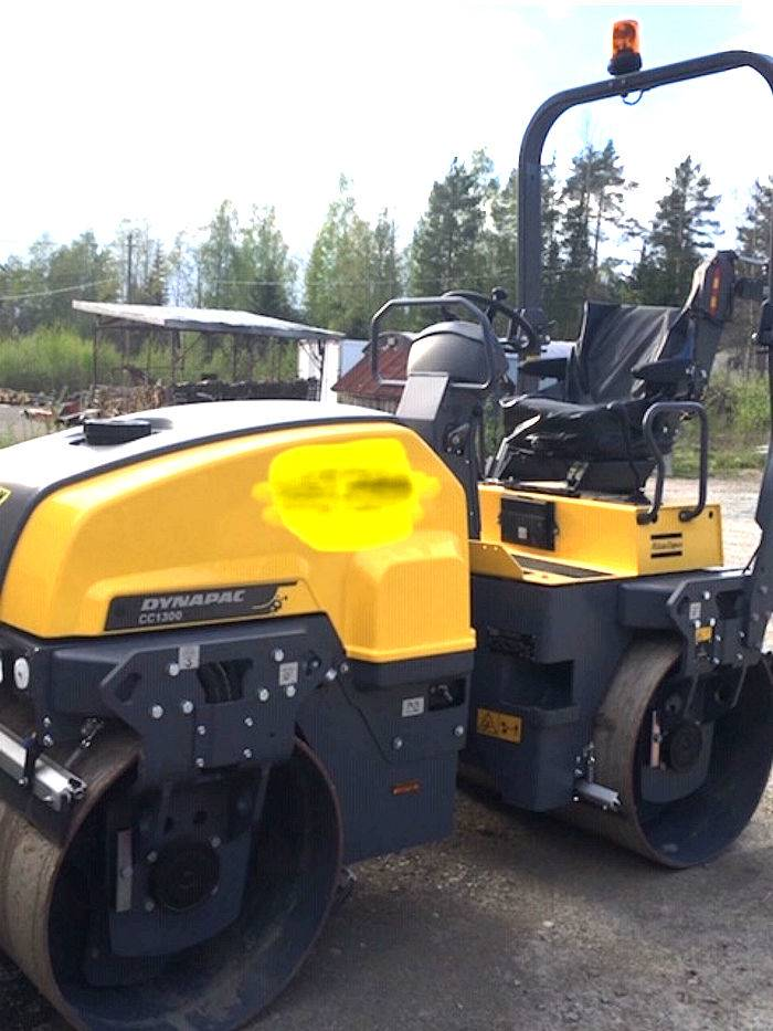 Dynapac CC 1300, Twin drum rollers, Construction