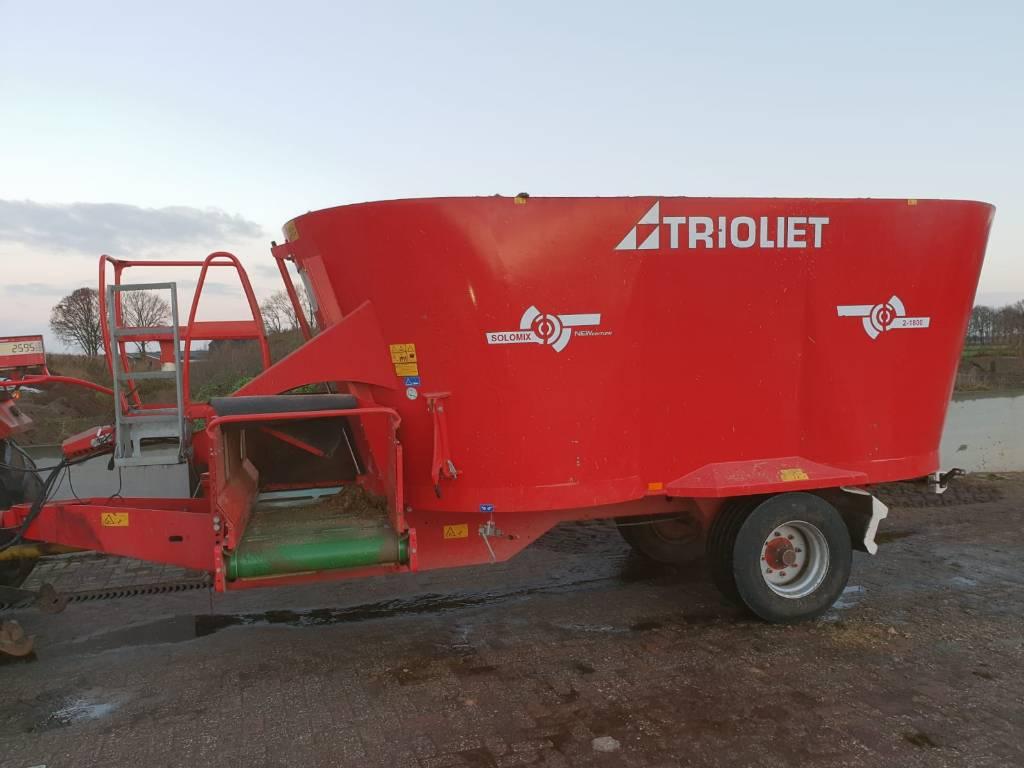 Trioliet Solomix  2 1800 VLH B, Voermengwagens getrokken, Landbouw