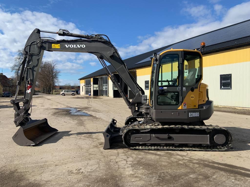 Volvo ECR88D grävmaskin, end 2200 tim, Midigrävmaskiner 7t - 12t, Entreprenad