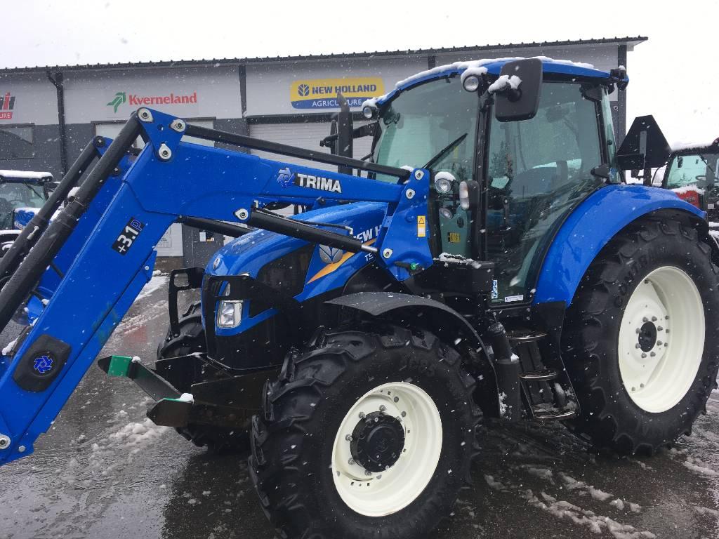 New Holland T 5.115   +etukuormain, Traktorit, Maatalous