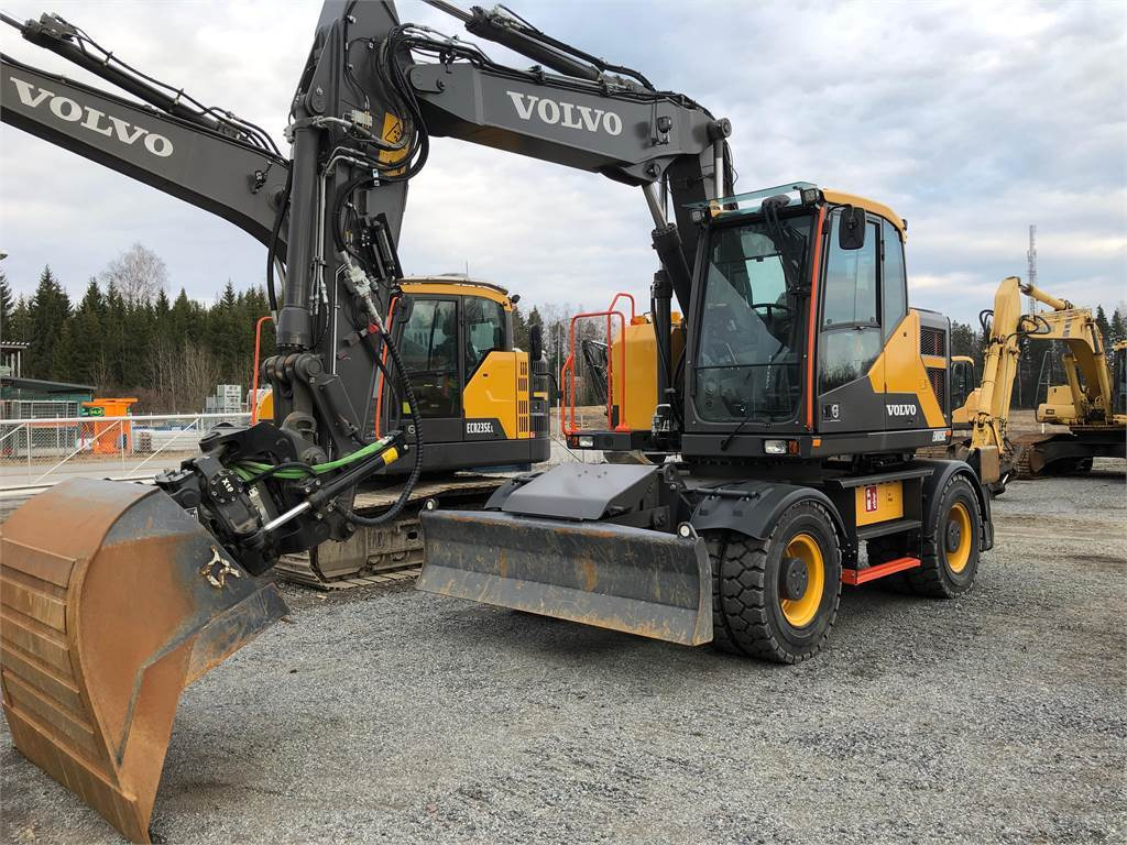 Volvo EWR150E, Wheeled Excavators, Construction Equipment