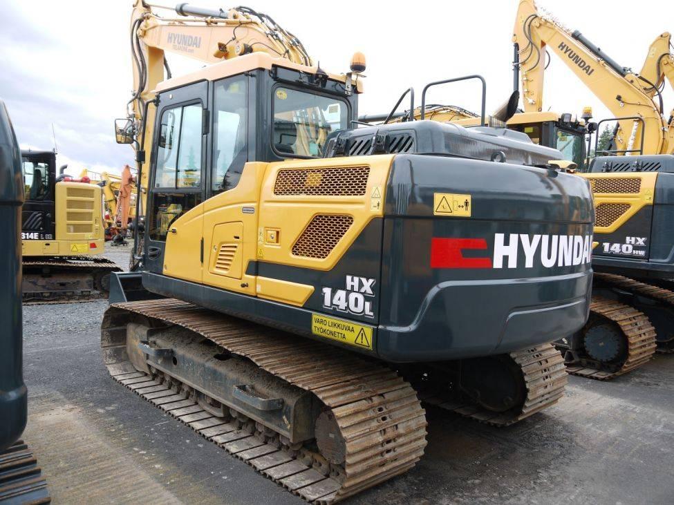Hyundai HX 140 L, Telakaivukoneet, Maarakennus