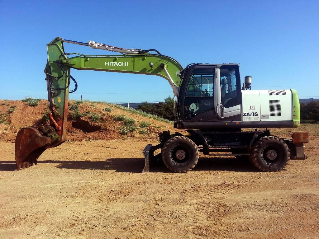 Hitachi ZX170W-3, Wheeled Excavators, Construction Equipment