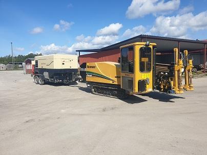 Vermeer D24x40SeriesII + Ingersoll Rand 21/215, Horisontell borrutrustning, Entreprenad