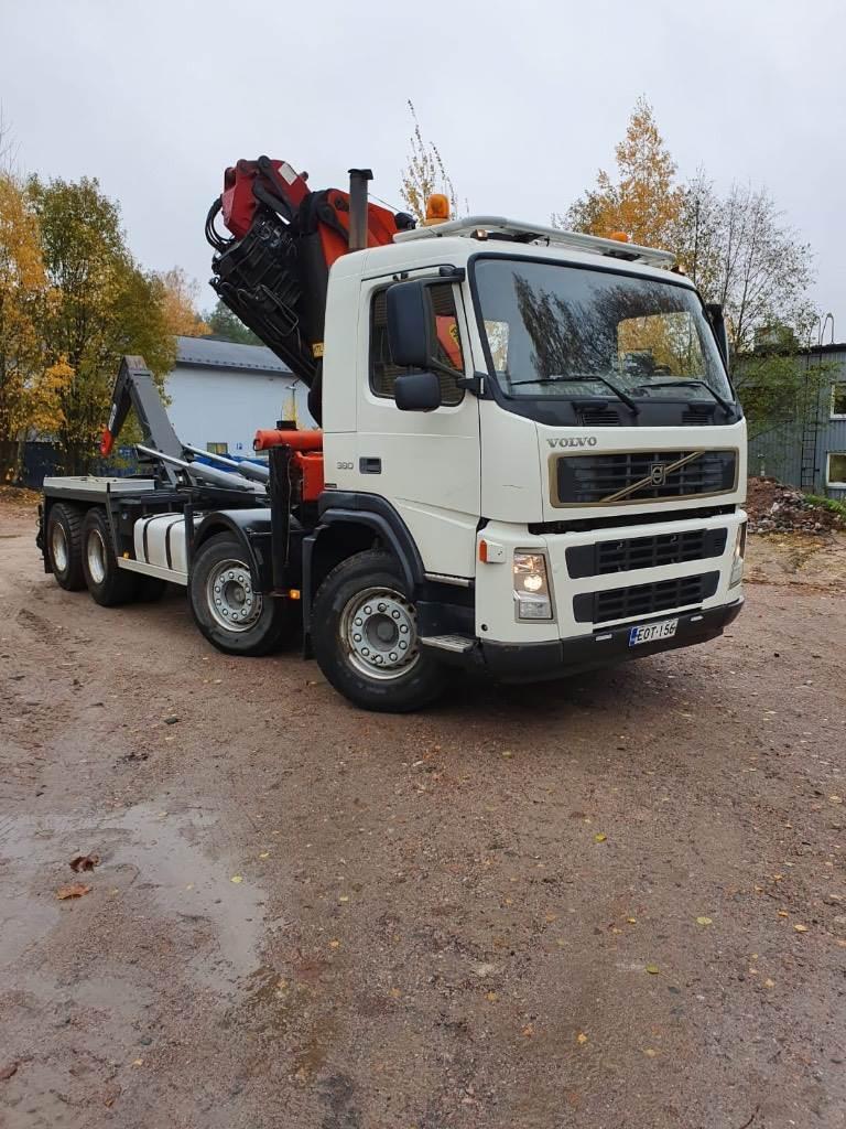 Volvo FM380 Palfinger 27002 nosturilla Palift koukkulait, Nosturiautot, Kuljetuskalusto