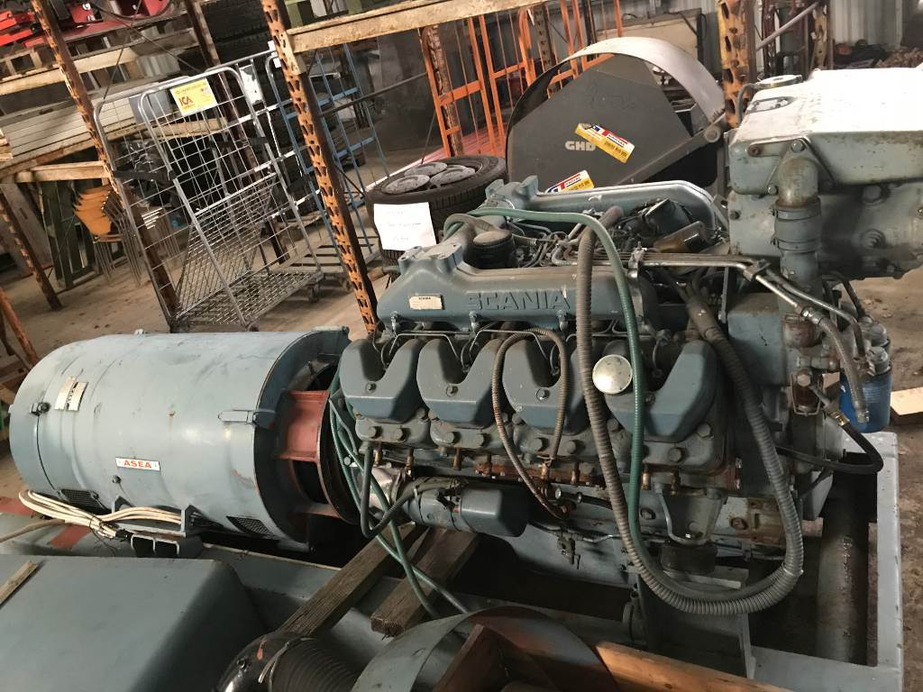 Scania DS14 Generator/Elverk, Dieselgeneratorer, Entreprenad