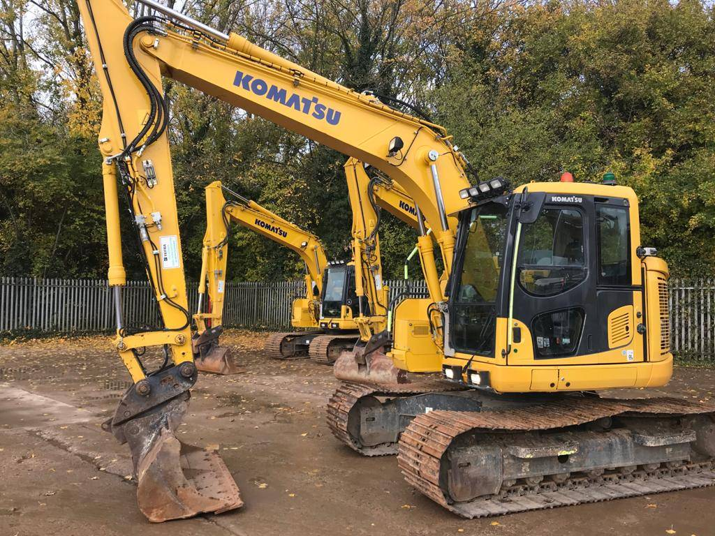 Komatsu PC138US-11, Crawler Excavators, Construction Equipment