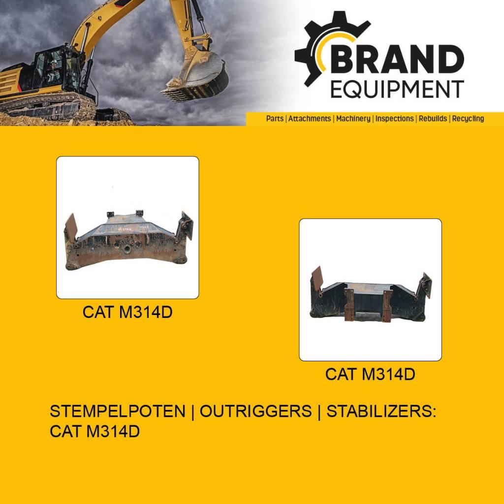 Caterpillar M314D Outriggers   Stabilizers   Stempelpoten, Wheeled Excavators, Construction Equipment