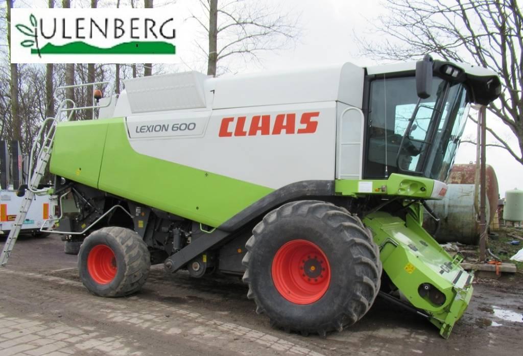 CLAAS Lexion 600 + VARIO1050 + w.transportowy, Kombajny zbożowe, Maszyny rolnicze
