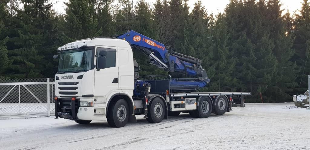 Scania R 480 LB, Nosturiautot, Kuljetuskalusto