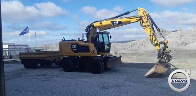 Caterpillar M318F, Wheeled Excavators, Construction Equipment