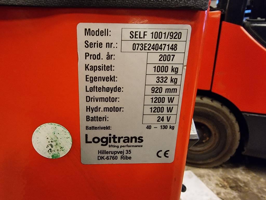 Logitrans SELF  1001/920 – 1,0 t stabler LH 0,92 m, Ledestablere, Truck