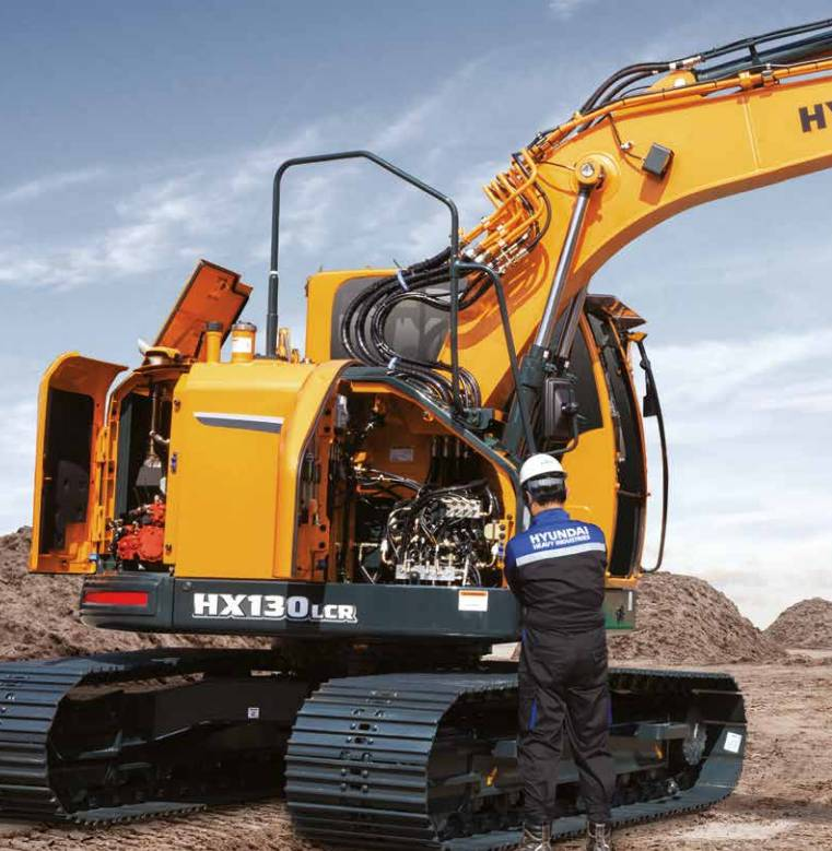 Hyundai HX130LCR, Crawler excavators, Construction