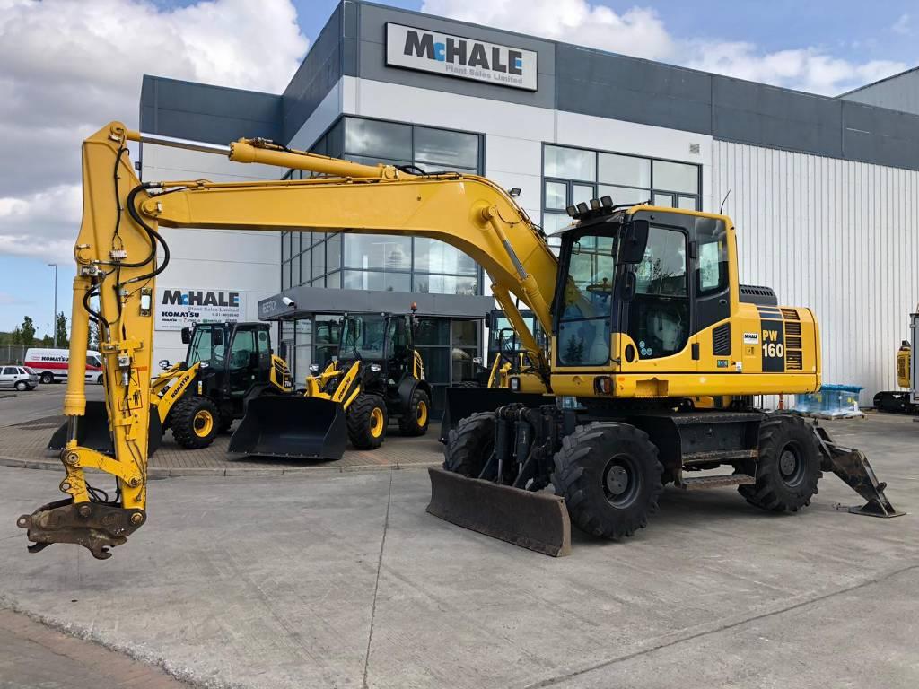 Komatsu PW160-8, Wheeled Excavators, Construction Equipment