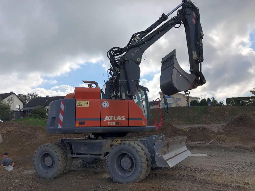 Atlas 180 WSR, Mobilbagger, Baumaschinen