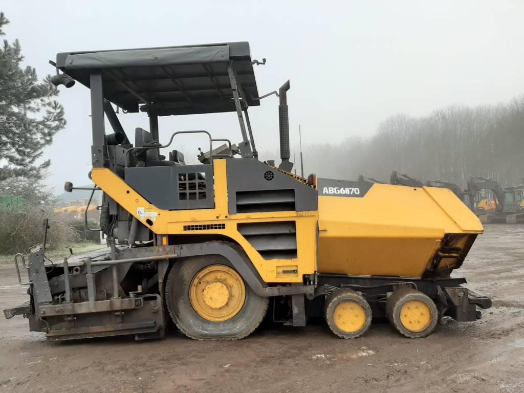 Volvo ABG6870, Asphalt pavers, Construction Equipment