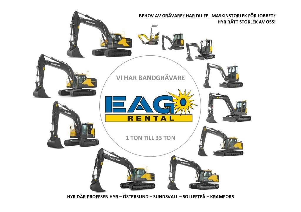 Volvo ECR235EL / UTHYRES, Bandgrävare, Entreprenad