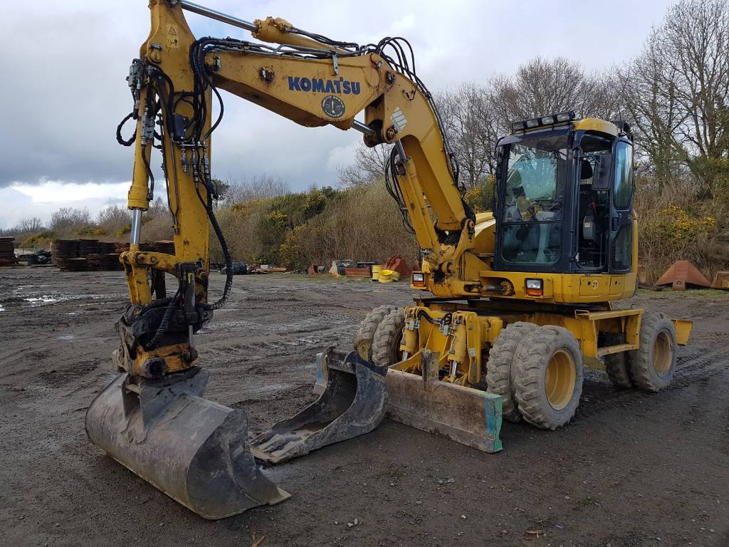 Komatsu PW118MR-8, Wheeled Excavators, Construction Equipment