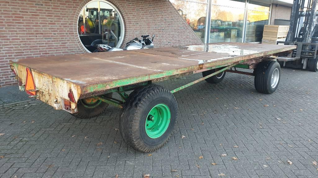 Platte wagen 6 meter platte wagen, balenwagen, transportwagen oprijwage, Utility Trailers, Agriculture