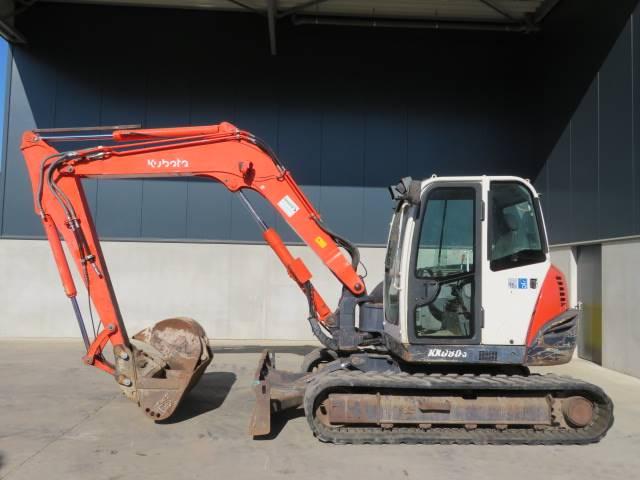 Kubota kx080-3, Midigraafmachines 7t - 12t, Bouw