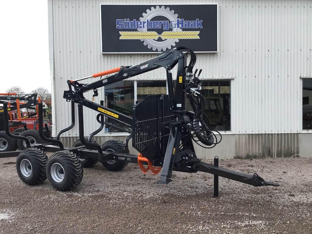[Other] Skogsvagn BMF 9T1 Kran 650, Övrigt lastning och gräv, Lantbruk