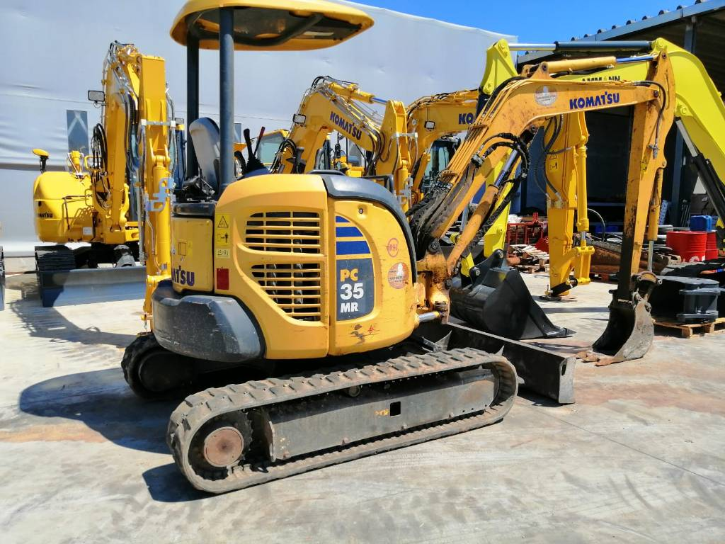 Komatsu PC35MR-3, Mini excavators, Construction Equipment