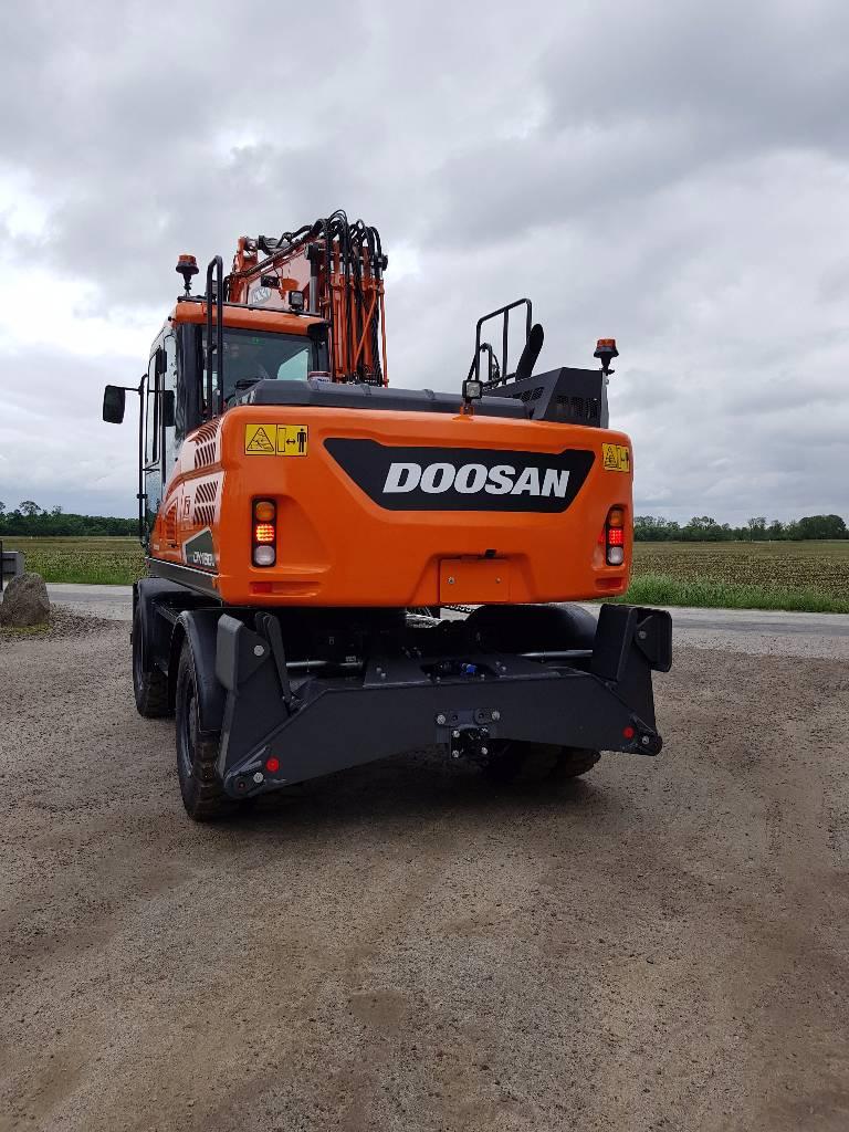 [Other] OMGÅENDE-Doosan DX 160 W-5, Uthyres, Hjulgrävare, Entreprenad