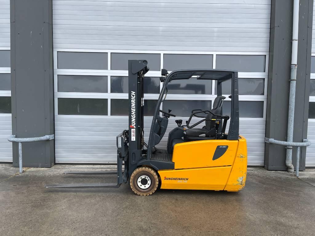 Jungheinrich 1.6 ton elektrische heftruck EFG216 forklift vorkversteller, Elektrische heftrucks, Laden en lossen