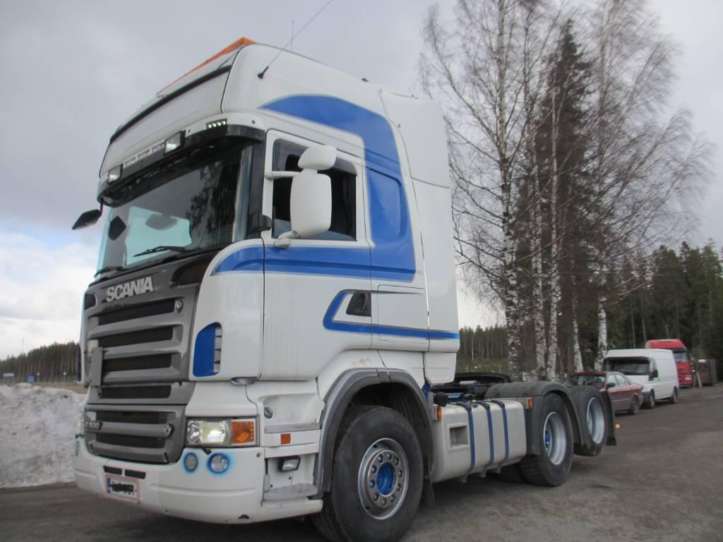Scania R500 6x2 10 pyörä veturi,adr, Vetopöytäautot, Kuljetuskalusto