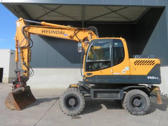 Hyundai Robex 140 W-9, Wheeled excavators, Construction