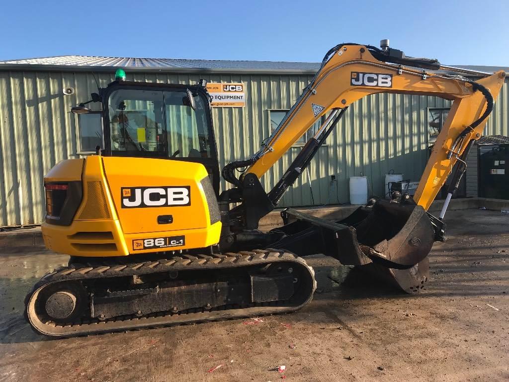 JCB 86C-1, Midi excavators  7t - 12t, Construction