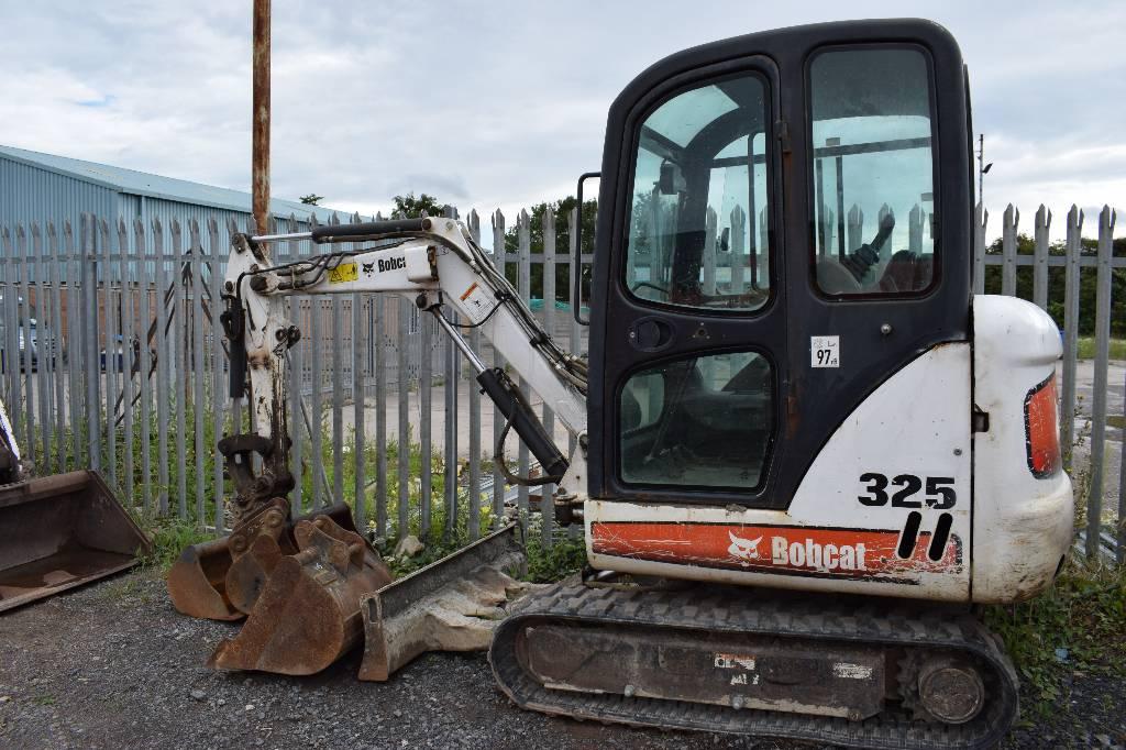 Bobcat 325, Mini excavators < 7t (Mini diggers), Construction