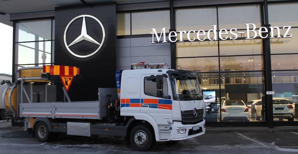 Mercedes-Benz Atego 1223 L, Kranbilar, Transportfordon