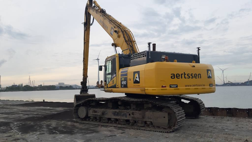 Komatsu PC490LC-10 - 18m longreach, Crawler excavators, Construction