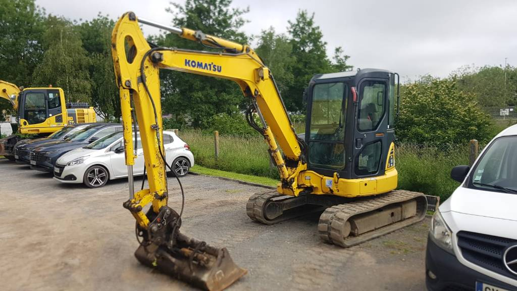 Komatsu PC55MR-3, Mini excavators, Construction Equipment