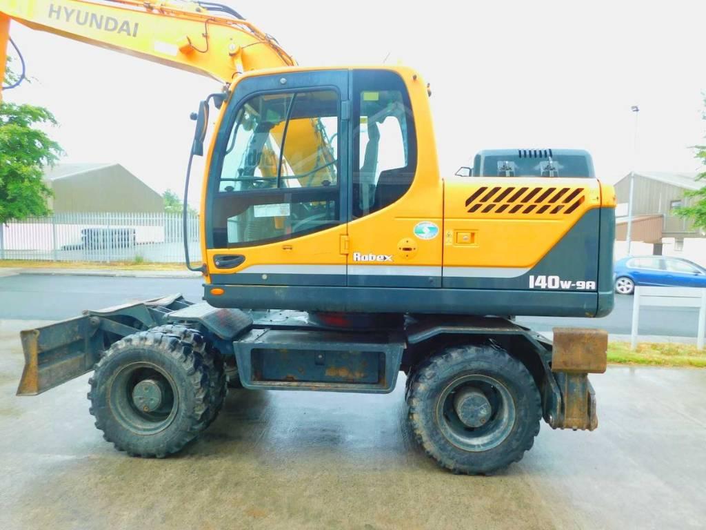 Hyundai Robex 140 W-9a, Wheeled excavators, Construction