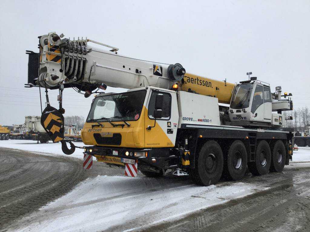 Grove GMK 4080-1 (2pc), All terrain cranes, Construction