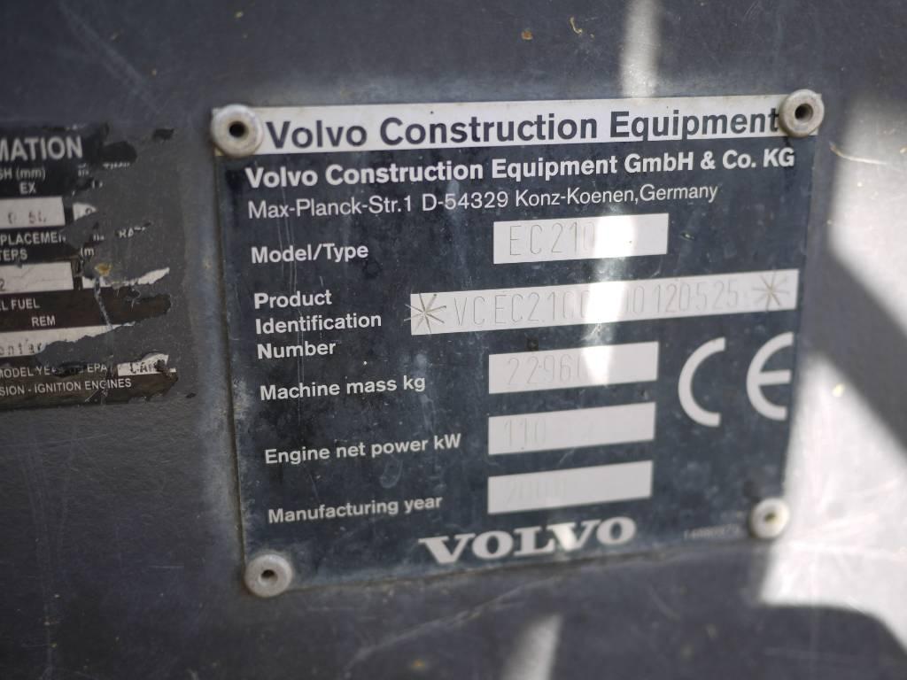 Volvo EC 210 CL, Telakaivukoneet, Maarakennus