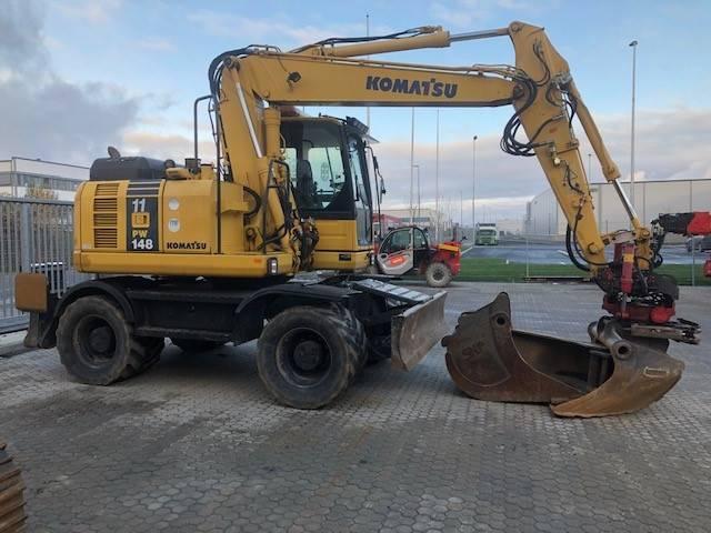 Komatsu PW148-8, Wheeled Excavators, Construction Equipment