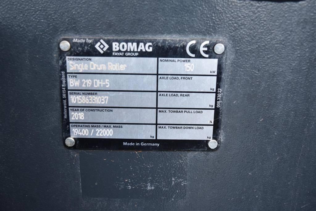 Bomag BW 219 DH-5, Walzenzüge, Baumaschinen
