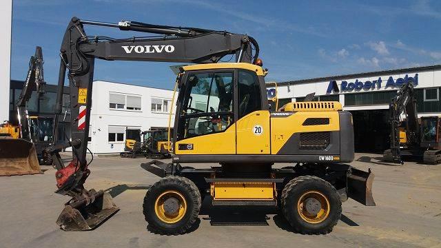 Volvo EW160D, Mobilbagger, Baumaschinen