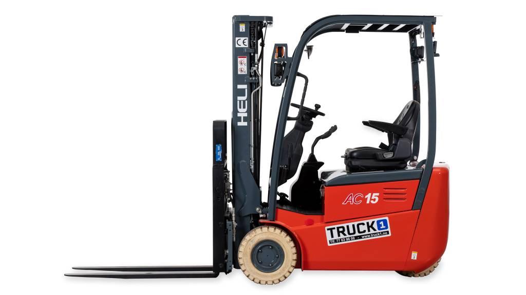Heli CPD15SH - 1,5 t el. truck - 4,7 m LH (PÅ LAGER), Elektriske trucker, Truck