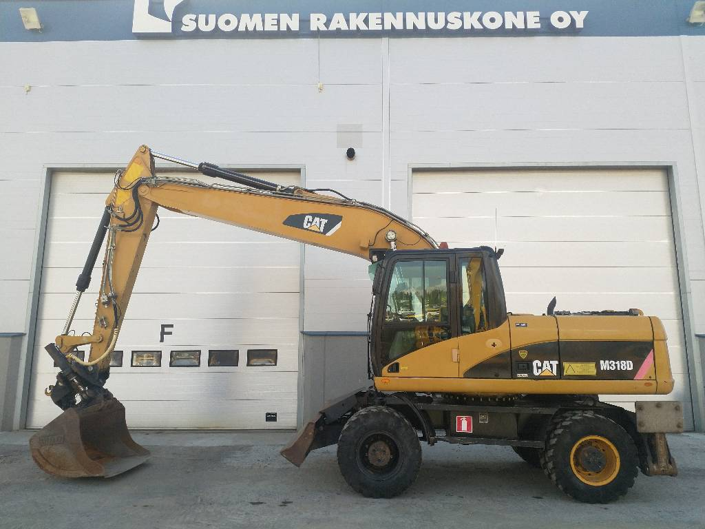 Caterpillar M 318 D, Wheeled excavators, Construction