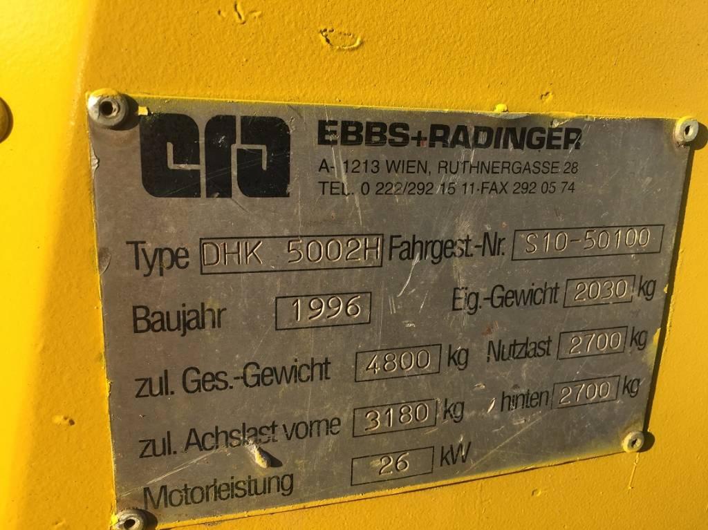 Ebbs & Radinger DHK5002H, Dumper - Knickgelenk, Baumaschinen