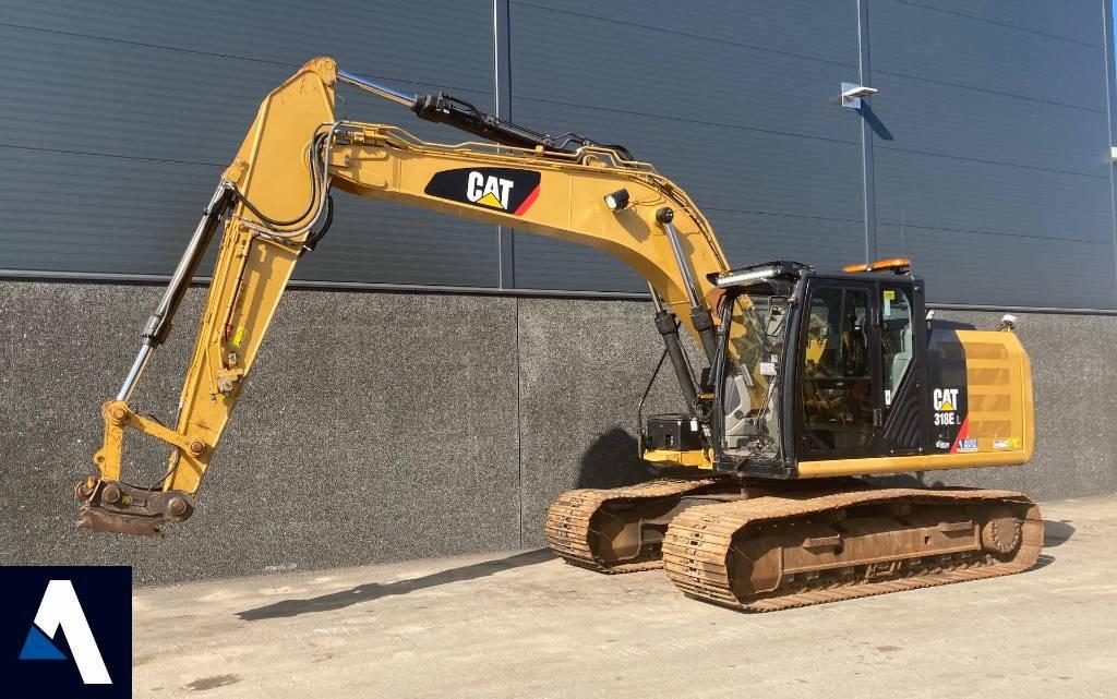 Caterpillar 318 E L, Crawler Excavators, Construction Equipment