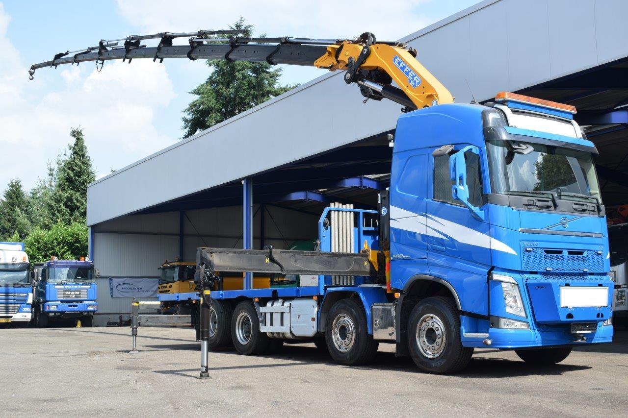 Volvo FH 500 8x2 EFFER 525 8S, Nosturiautot, Kuljetuskalusto