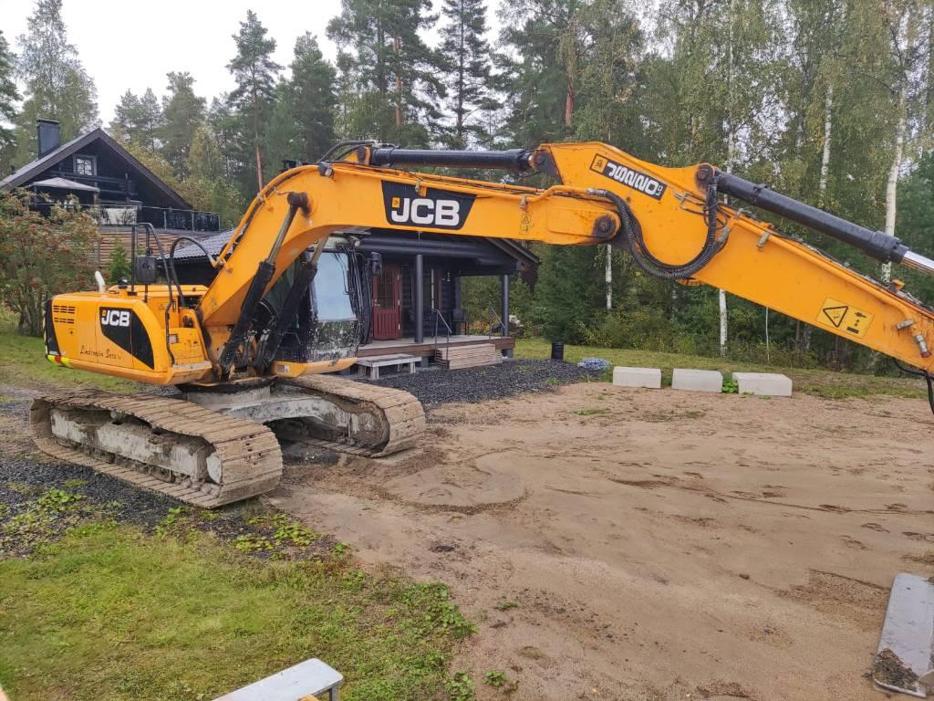 JCB JS 210 LC, Telakaivukoneet, Maarakennus