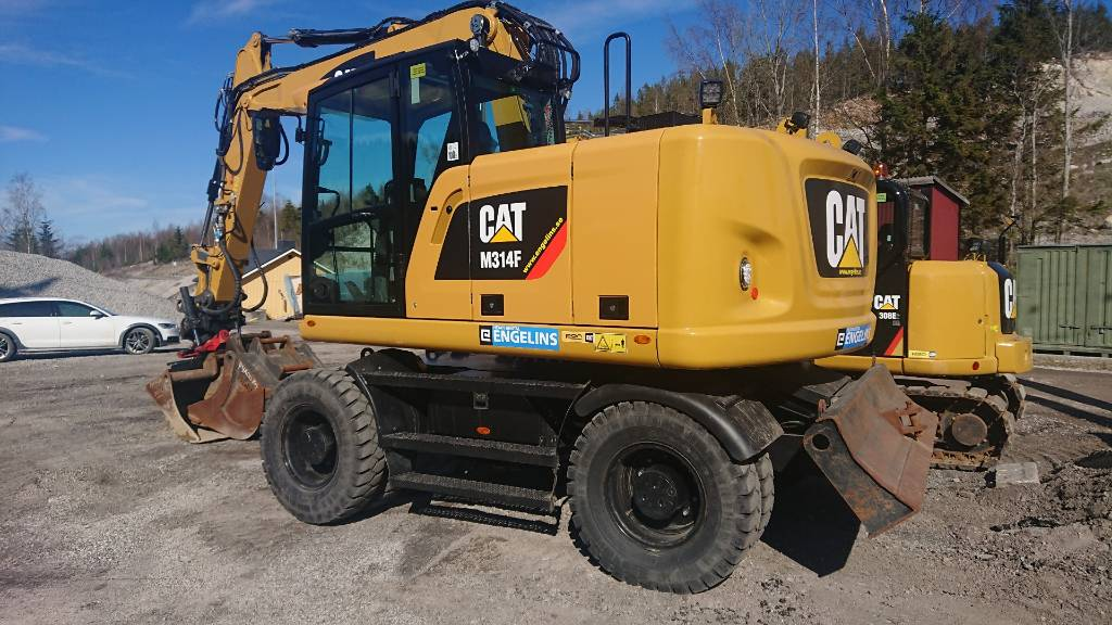 Caterpillar 314F, UTHYRES, Hjulgrävare, Entreprenad