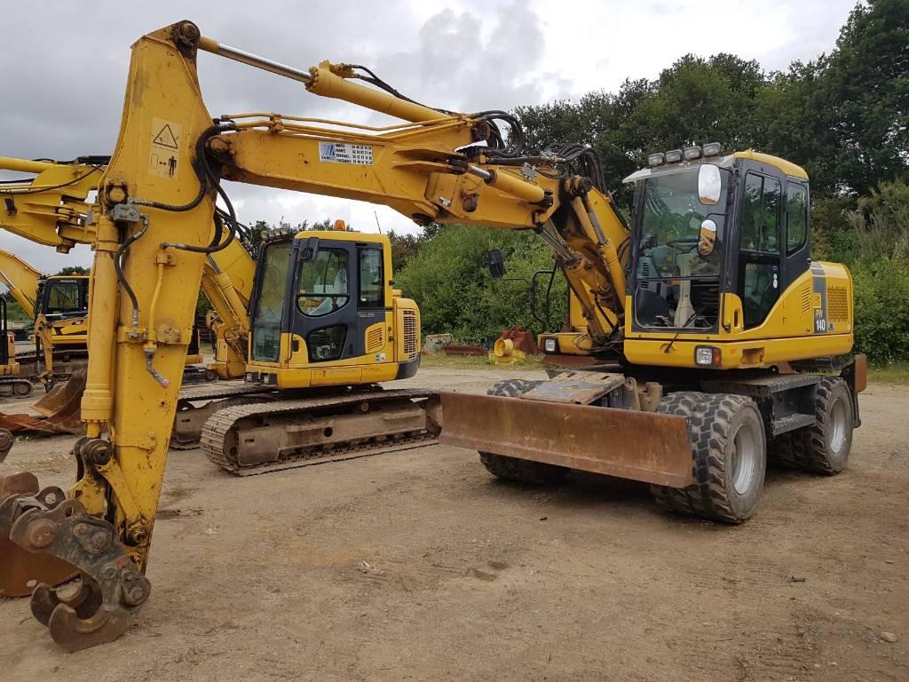 Komatsu PW140-7, Wheeled excavators, Construction